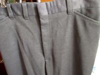 32x29 True Vtg 70s mens FARAH GRAY SHINY POLYESTER FLARE PANTS JEANS