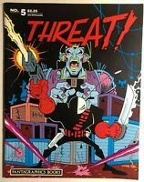 THREAT! #5 (1986) Fantagraphics B&W comics magazine FINE-
