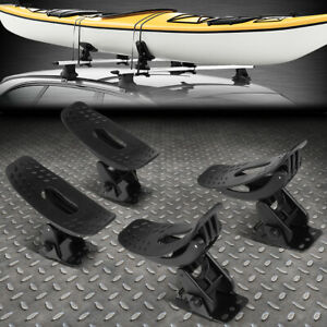 4PCS UNIVERSAL SADDLE KAYAK CAR TRUCK ROOF TOP MOUNT RACK SNOWBOARD BOAT CANOE