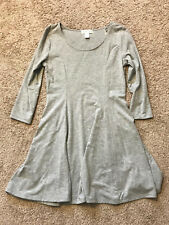 Women's Juniors FORVER 21 Solid Gray Polyester Casual Flare Dress Size Large