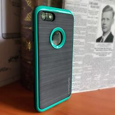 iPhone 7 Case Rubberised Rugged Impact Proof Inc Screen Protector Turquoise