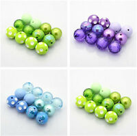 4Sets 20mm Round Chunky Bubblegum Acrylic Beads Lovely Mixed Style Craft Charms