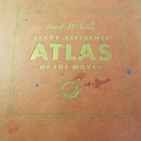 Vtg 1943 Rand McNally Ready Reference Atlas of the WORLD Color Maps History