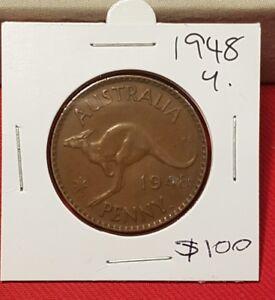 1948y. Australian Penny coin
