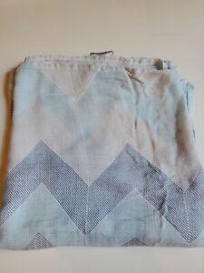 Aden Anais Baby Boy Bamboo Swaddle Blanket Chevron Blue, Gray & White