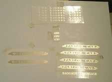 LIONEL PRE-WAR STANDARD SCALE  428-429-430 GOLD METALLIC WATER DECAL SERIF LOOK!