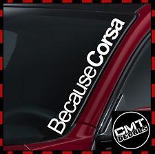Porque Corsa coche/van Parabrisas Decal Sticker Opel Euro - 17 Colores 550mm
