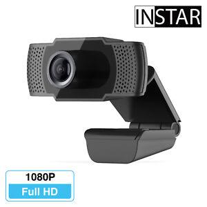 INSTAR IN-W1 Full-HD USB Webcam Mikrofon 1080p Plug&Play PC Kamera Zoom Skype