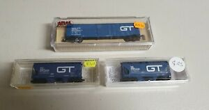 Micro Trains & Atlas N Scale Grand Trunk Western Carriages 3 Pack