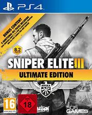 Ps4 sniper elite 3 III Ultimate Edition Uncut neu&ovp Playstation 4 envoi de colis