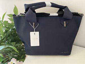 Ted Baker Nylon Tote Bag Xbody MACIEYY NAVY BLUE  BNWTS Rrp £79