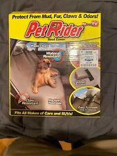Pet Rider Seat Cover - Protect From Mud, Fur, Claws & Odors Car Interior Protect