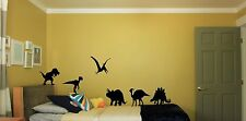 Childrens Wall Vinyl Stickers Home Decor Dinosaurs X6 Decals Art Decoration