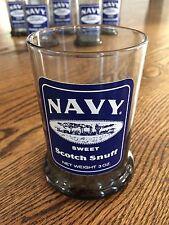 Navy Sweet Scotch Snuff Set Of 6 Drinking Glasses Cups Tobacco Memorabilia VGUC