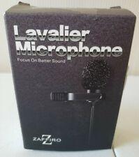 Lavalier Lapel Microphone ZAFFIRO Clip-on 3.5 MM Audio