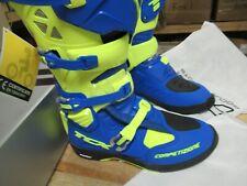 TCX BOOTS COMP EVO - MOTOCROSS BOOTS - MICHELIN BLU/YELO - EURO 49 / US MEN 14