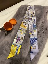 Brand new Hermes La Maison Des Carres Scarf House Grey and yellow.