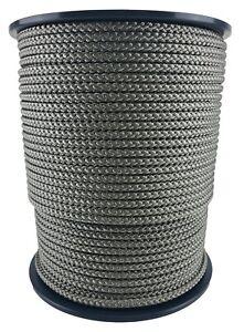 10mm Grey Braided Polypropylene Poly Rope Cord Paracord Drawstring Sailing