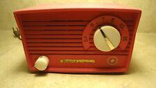 ~*~Vintage Hot Pink Tube Radio Monarch Hi Fi Master Rare Mini Midget Works~*~