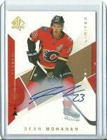 2018-19 SP Authentics Gold Limited Auto Sean Monahan - Calgary Flames