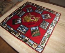 Square scarf Canada theme red brown green gold+ 27 x 27 Moxie's Mayhem store