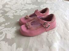 Clarks Zapatos bebé niña primeros 5 F Buen Estado Rosa