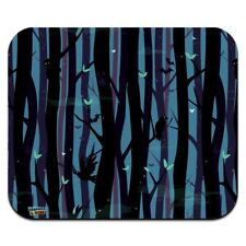 Spooky Dark Forest with Crows and Ravens Low Profile Thin Mouse Pad Mousepad