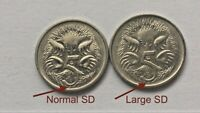 ⚡1993 Australian 5 Cent 🇦🇺*LARGE SD* Error Coin/Variety Scarce 2 Coin Set💰