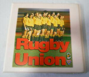 #KK.  1995  AUSTRALIAN WALLABIES  RUGBY UNION  FUTERA CARD SET IN FOLDER