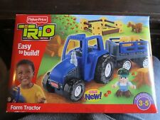 Fisher Price TRIO Farm Tractor and Trailer Set Farmer Horse and More included!