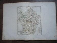 GRANDE CARTE HAUT ET BAS RHIN FRANCONIE SOUABE VAUGONDY 1806