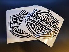 2 x Harley Davidson Motorbike Motor Cycles Car Decal Vinyl Sticker For Bumper