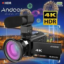 Andoer 4K 1080P 48MP WiFi Digital Video Camera Camcorder Recorder DVR+Macro Lens