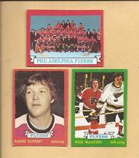1973-74  OPC  Lot of 3 Phil. Flyers w/  R. MacLEISH + TEAM card   EX and better