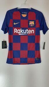 Nike Mens FCB Barcelona Home jersey Deep Royal Blue/Noble Footbal Top Size S New