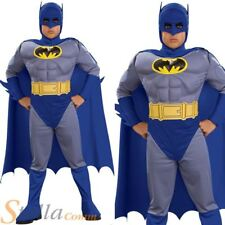 Batman Brave & Bold Costume Boys Deluxe Fancy Dress Muscle Chest Child Halloween