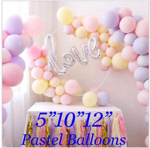 Macaron Pastel Balloons Rainbow Ballons Birthday Baby shower Party Decor FUN UK