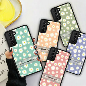 PERSONALISED NAME DAISY FLOWER Phone Hard Case Cover For iPhone 8 11 12 Pro Max