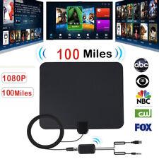 100 Miles Range Wohnung Indoor Signal Verstärker Digital TV Antenne HDTV