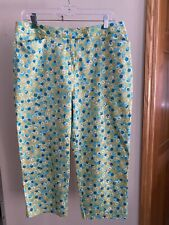 Field Gear Women's Lime Green/Turquoise Capri Pants, Size 12, New with Tags