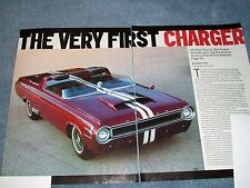 "1964 Dodge Charger Concept Show Car Vehicle Article ""The Very First Charger"""