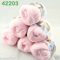 Sale Lot 6ballsx50g Soft Worsted Cotton Chunky Bulky Hand Knitting Shawl Yarn 03