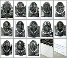 "13 x SIGNED Linocuts Vasyl Khvorost ""Ukrainian Hetmans"" Ukraine, 1999 (32x20 cm)"