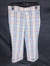 "Vtg Tobias Trousers Plaid Pants 30"" Waist A1 Bell Bottom"