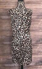 3f5d7e2fc1a Black Saks Fifth Avenue Animal Print Cocktail Dress Women s Size 10
