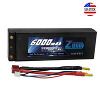 Zeee 7.4V 2S 6000mAh 100C LiPo Battery Deans Plug Hardcase for RC Truck Car Boat