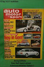 AMS Auto Motor Sport 5/85 * Alpine V6 GT Jaguar XJ-S 3.6 VW Bus DB 300 E