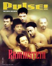 RAMMSTEIN 2001 PULSE MAGAZINE PROMO POSTER ORIGINAL
