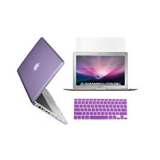 """3 in 1 Crystal  PURPLE Case for Macbook PRO 13"""" + Keyboard Cover + LCD Screen"""