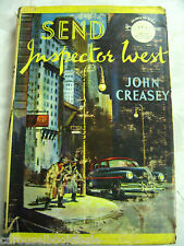 Send Inspector West John Creasey Vintage 2nd UK hcdj 1955 A15